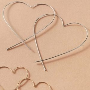 Heart Shape Hoop Earrings